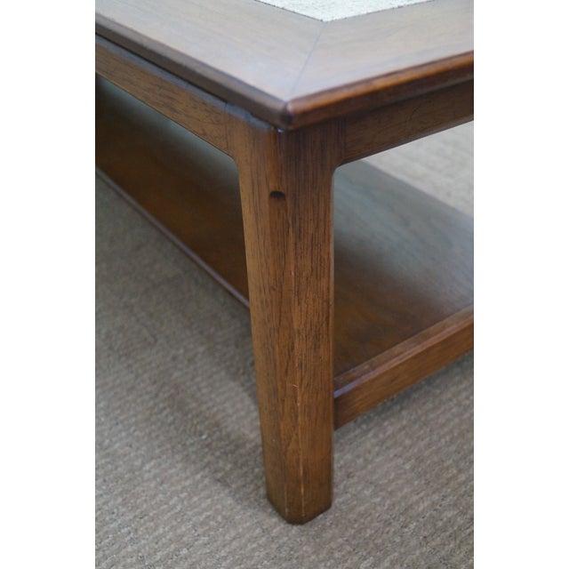 Mid Century Modern Long Walnut Coffee Table - Image 8 of 10