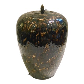 Modern Drip Glazed Ginger Jar