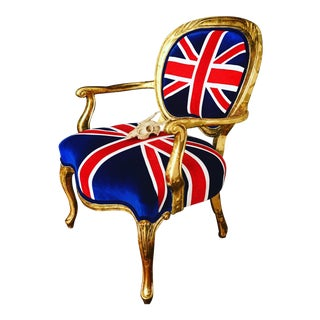 British Union Jack Velvet Chair