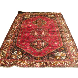 "Handwoven Persian Shiraz Rug  - 5' 10"" x 7' 8"""