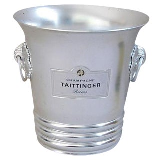 Vintage French Taittinger Champagne or Wine Ice Bucket