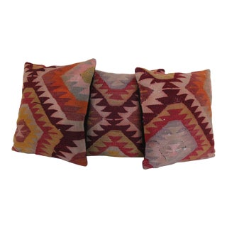 Vintage Kilim Rug Pillowcases - Set of 3