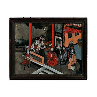 19th Century Antique Chinese Export Eglomise Painting