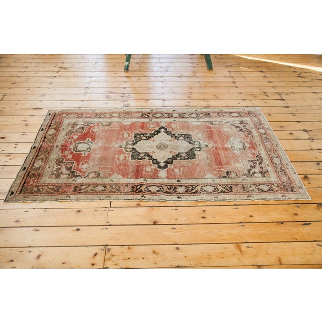 "Distressed Oushak Rug - 4' X 6'10"" - Image 5 of 6"