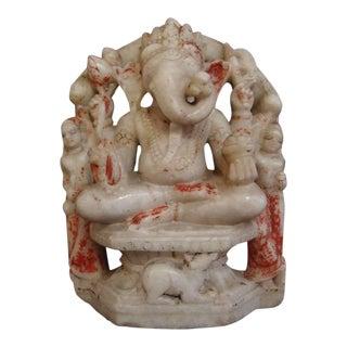 White Marble Figure of Ganesh