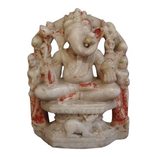 White Marble Figure of Ganesh
