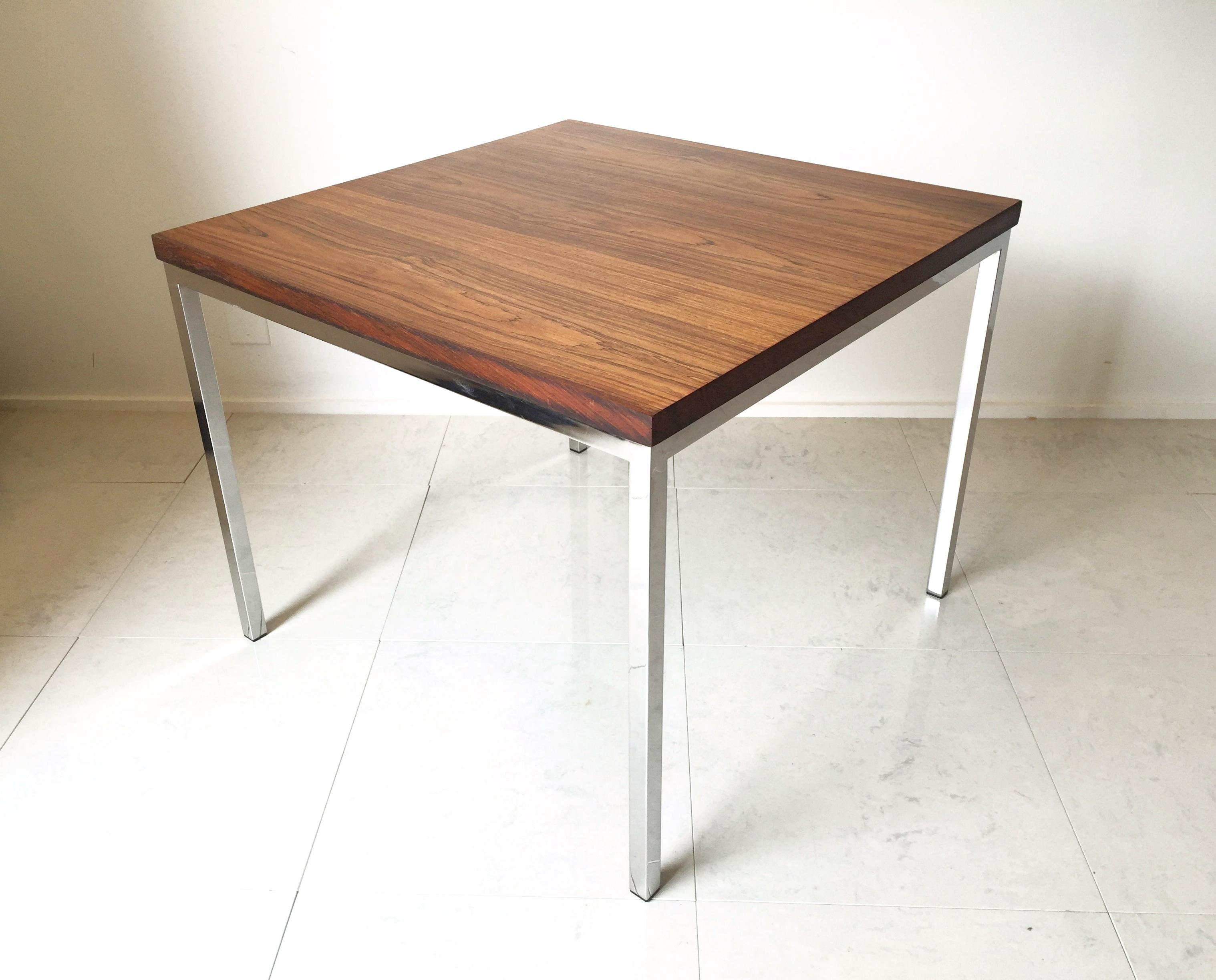 Florence Knoll Floating Top Rosewood Table Chairish