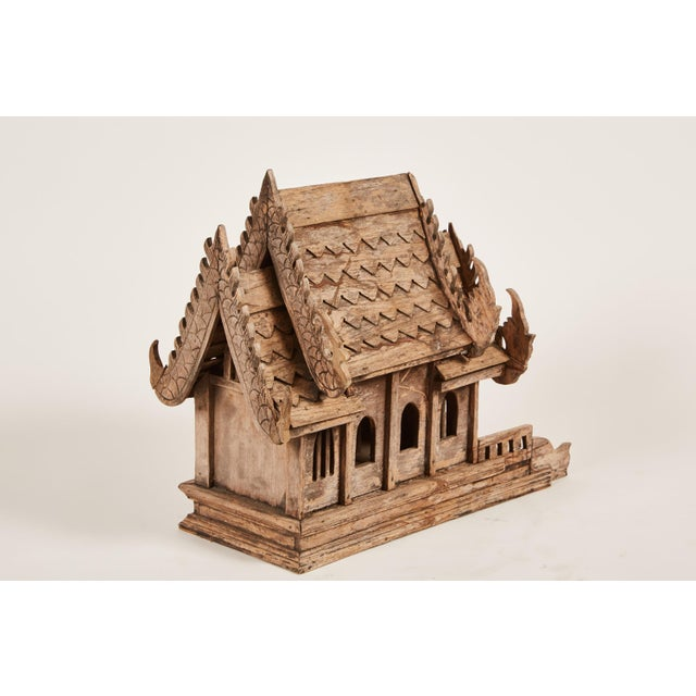 "20th Century Teak Spirit House of the Buddhist Temple ""Vihara"" in Thailand - Image 6 of 8"