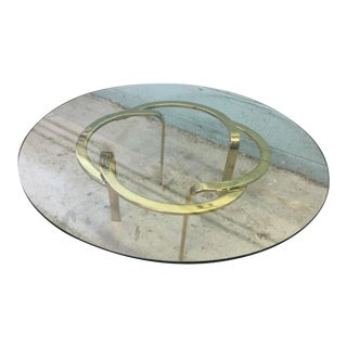 Vintage Brass Ribbon Table