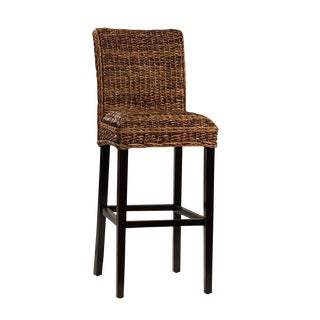 Woven Banana Leaf Bar Stool