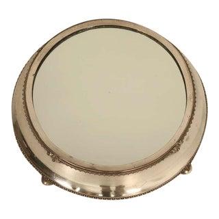 English Antique Silver Plated Mirror Plateau by Fenton Bros. Ltd