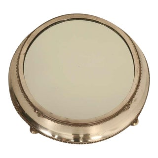 English Antique Silver Plated Mirror Plateau by Fenton Bros. Ltd