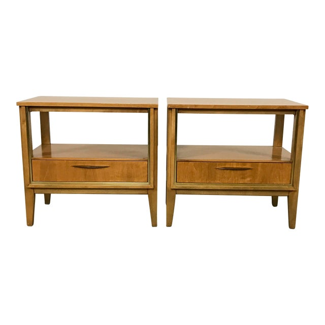 Mid Century Nightstands - a Pair - Image 1 of 11
