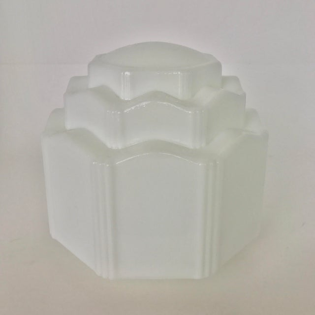 Art Deco Milk Glass Globe Replacement - Image 2 of 6