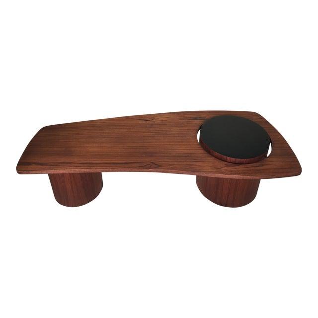 Mid-Century Danish Teak Floating Coffee Table - Image 1 of 10
