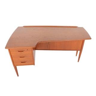 Goran Strand for Lelangs Mobelfabrik Teak Boomerang Desk