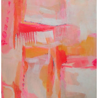'My Broken Comb' Pink & Coral Abstract Painting