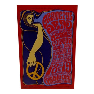 Grateful Dead Concert Poster Fillmore Auditorium, San Francisco