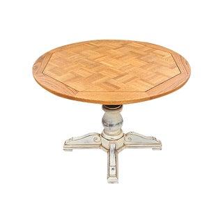 Adjustable Oak Pedestal Table