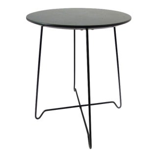 Modern Bent Wire Leg & Wood Top Side Table