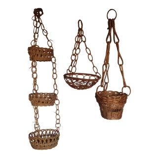 Vintage Plant Hanging Baskets - S/3