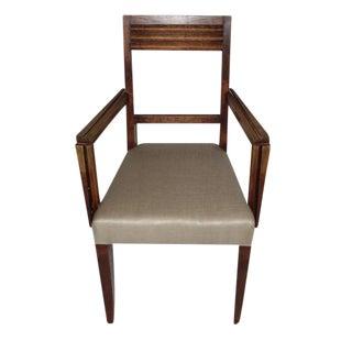 1940s Oak Desk Chair, France
