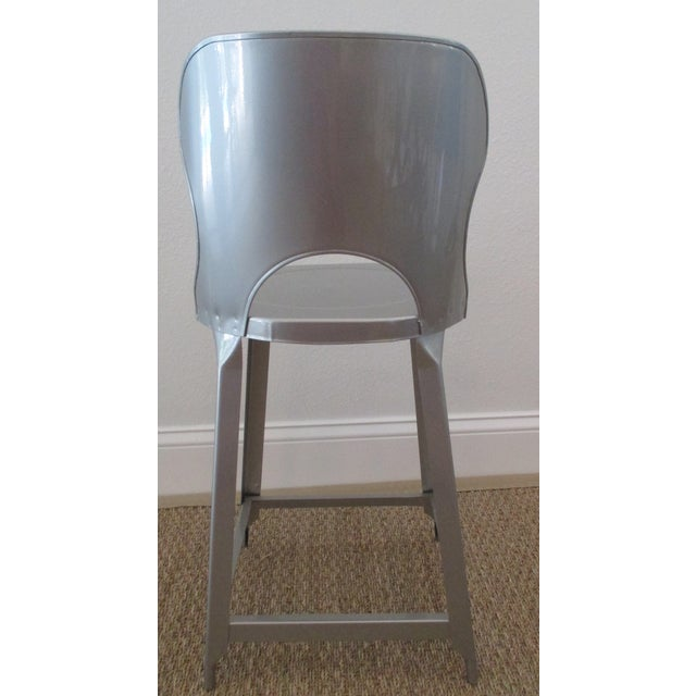 Image of Vintage Industrial Style Stool with Chrome Finish