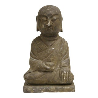 Vintage Stone Carved Buddha