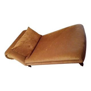 Transitional Suede Chaise