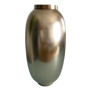 Vintage Polished Brass Vase