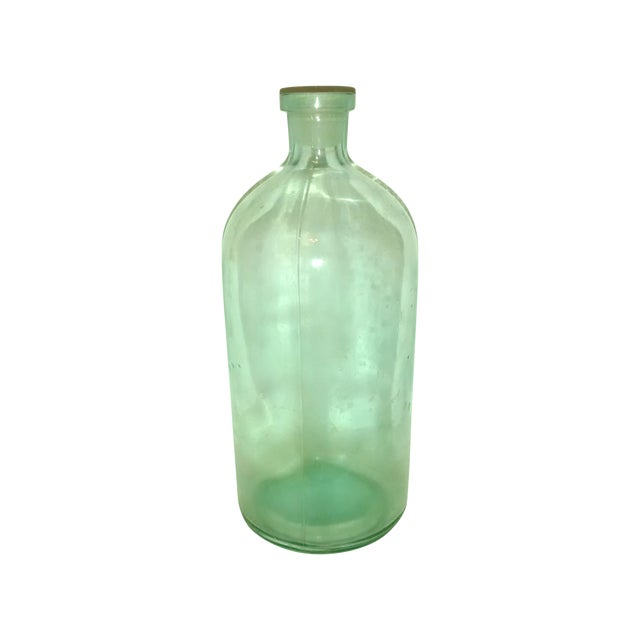Large Blue Glass Apothecary Bottle - Image 1 of 6
