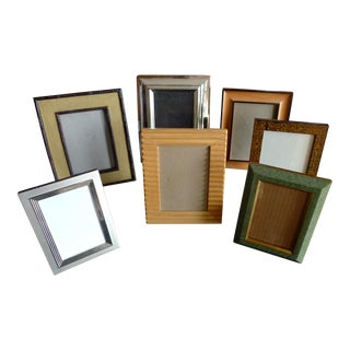 Philip Whitney 7 Piece Gallery Frame Set Wood Frame with Mat
