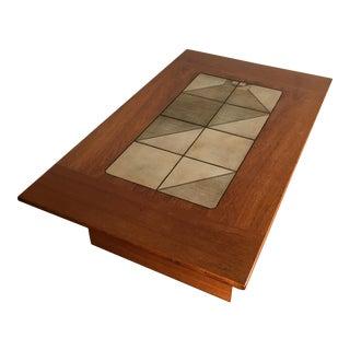 Mid-Century Danish Modern Tile Top Coffee Table
