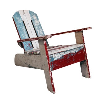 Vintage Distressed Beach Chair