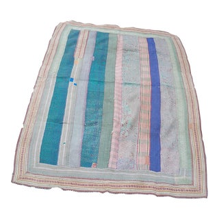 Antique Kantha Quilt From Bangladesh