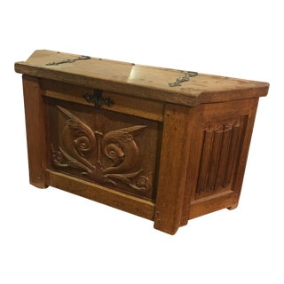 French Antique Carved Chest