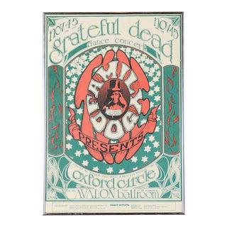Vintage Original The Grateful Dead Concert Poster