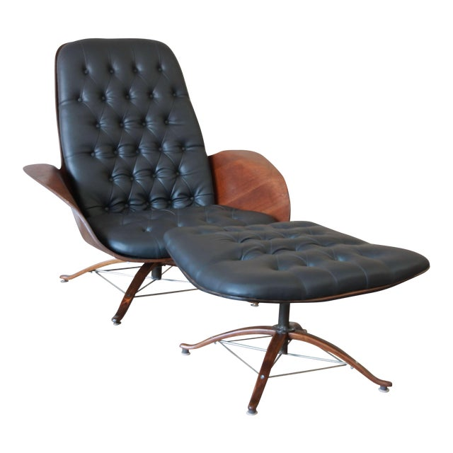 """George Mulhauser for Plycraft """"Mr. Chair"""" and Ottoman - Image 1 of 10"""