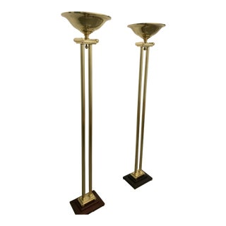Brass Floor Lamps - A Pair