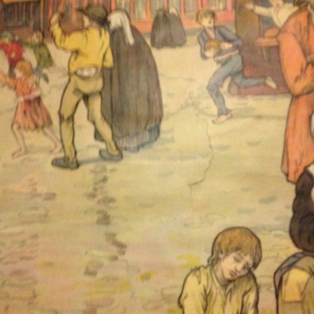 Vintage Belgian History School Chart Art - Image 9 of 10