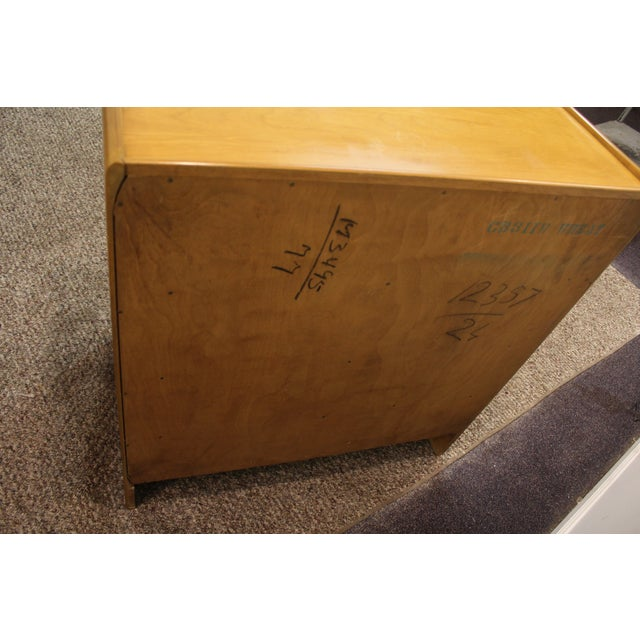 Mid Century Modern Drop-Front Wheat Chest/Dresser - Image 5 of 9