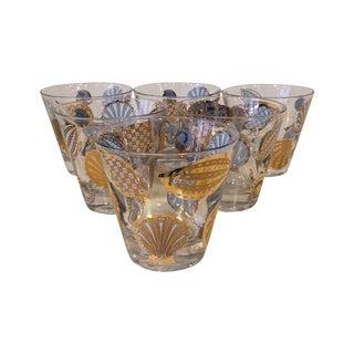 Georges Briard Seashell Glasses - Set of 6