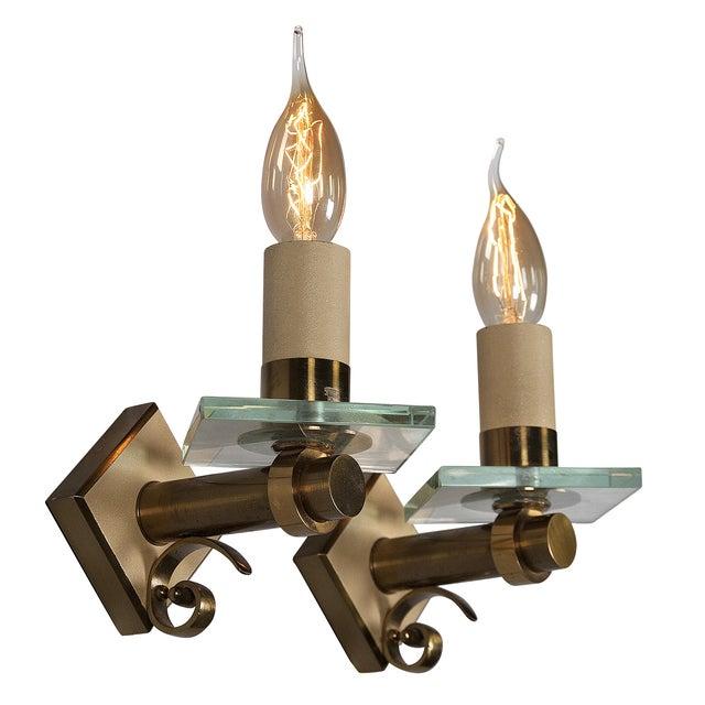 Fontana Arte Style Single Light Sconces - Pair - Image 2 of 7