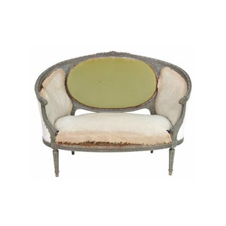 Antique Distressed Painted Louis XVI Style Sofa