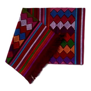 Chiapas Red Bed Runner or Table Runner