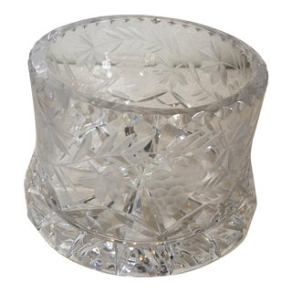Cut Crystal Bottle Coaster Holder