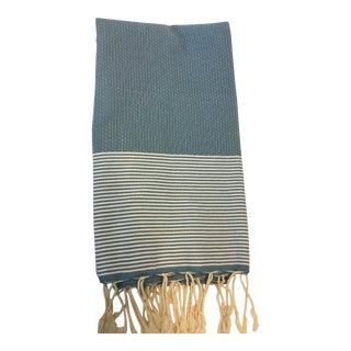 Blue Striped Tunisian Fouta Towel
