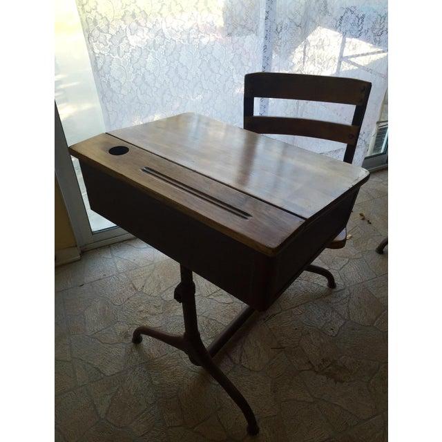 Vintage Home School Desks - Pair - Image 5 of 11