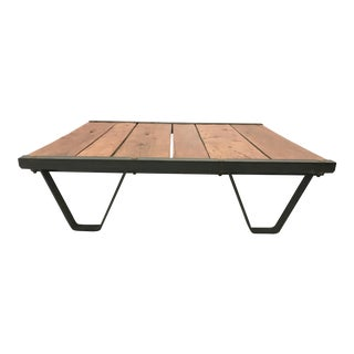 Industrial Angled Steel Coffee Table