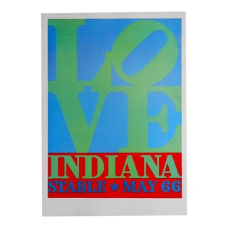 Vintage Poster Lithograph, Robert Indiana